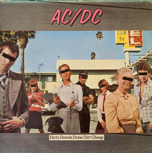 AC/DC ‎- Dirty Deeds Done Dirt Cheap  (LP)  (G/G+)